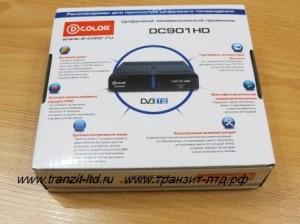 dcolor dc901HD общий обзор , упаковка задняя основная сторона