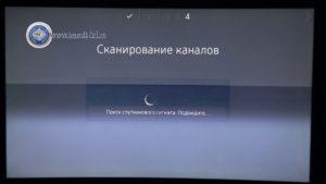Настройка телевизора на НТВ Плюс, сканируем спутник